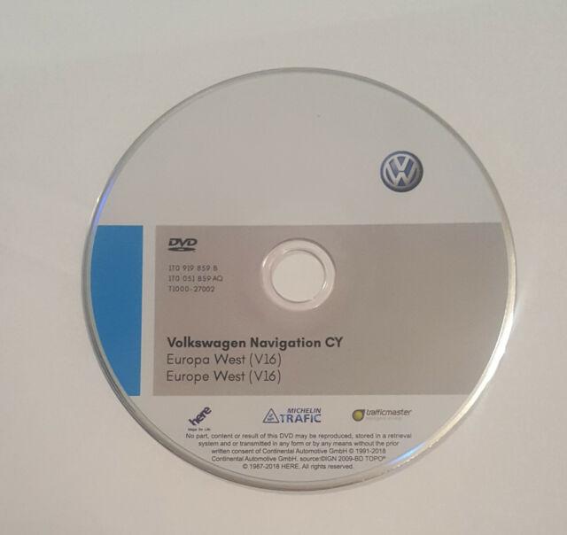 Latest 2019 V16 VW RNS510/810 sat nav disc map update Navigation UK&West  europ