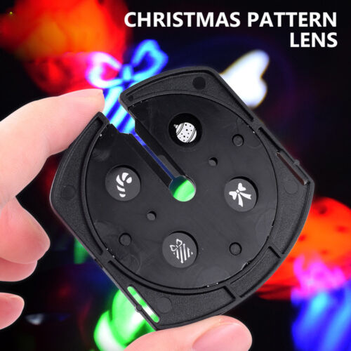 4 Slides LED Snow Projector Lamp Christmas Moving Laser Projection Indoor Light
