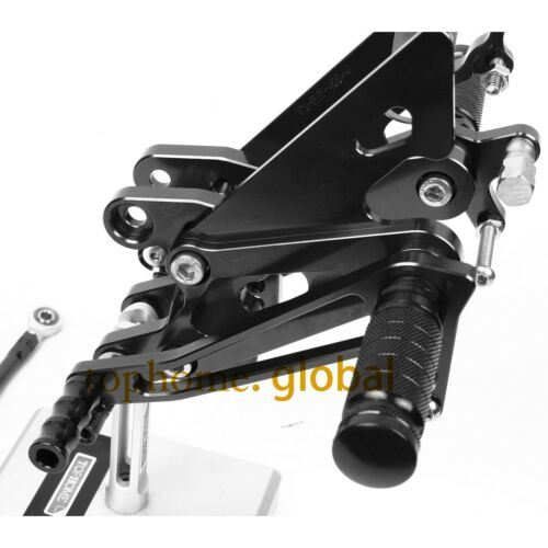 CNC Foot pegs Rearsets Rear set For Honda VFR400 NC30 RVF400 NC35 Black
