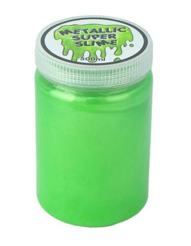 Metallico SUPER Slime 500ml-VERDE-Slime Pentole-Slime TOYS HL308