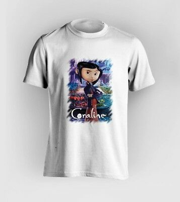 Coraline T Shirt Mens Womens Movie Fantasy Horror Not Disney Free Post Ebay