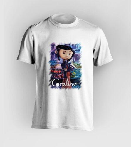 FREE POST!! coraline t-shirt mens movie, fantasy horror, not Disney womens