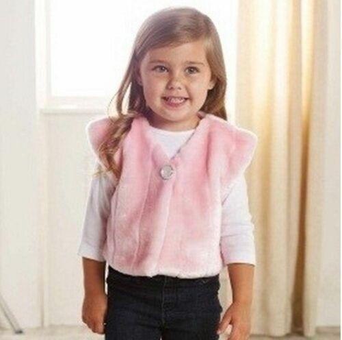 Mud Pie Holidays Pretty in Pink Baby Girl Fur Vest 12-18 months 176188