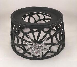 Pottery-Barn-Spider-Web-Spiderweb-Halloween-Drink-Dispenser-Stand-NEW-Metal