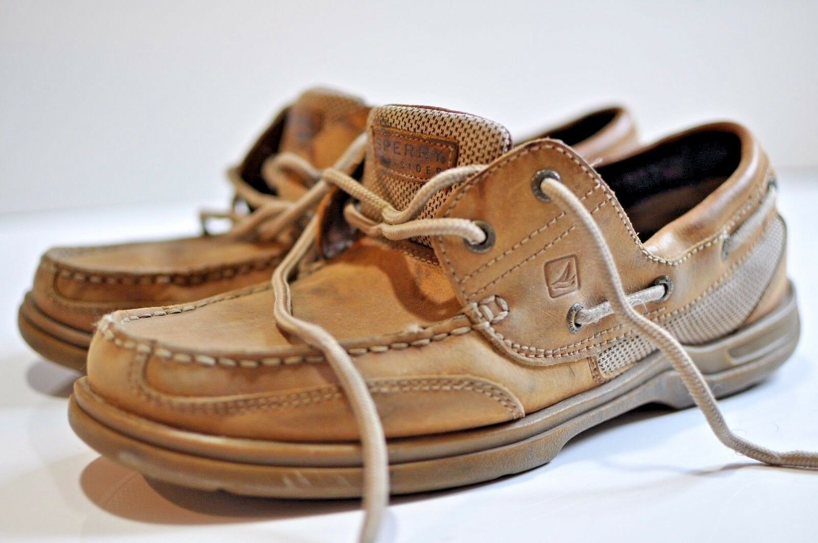 Sperry Top-Sider Mens leather boat shoe size 10