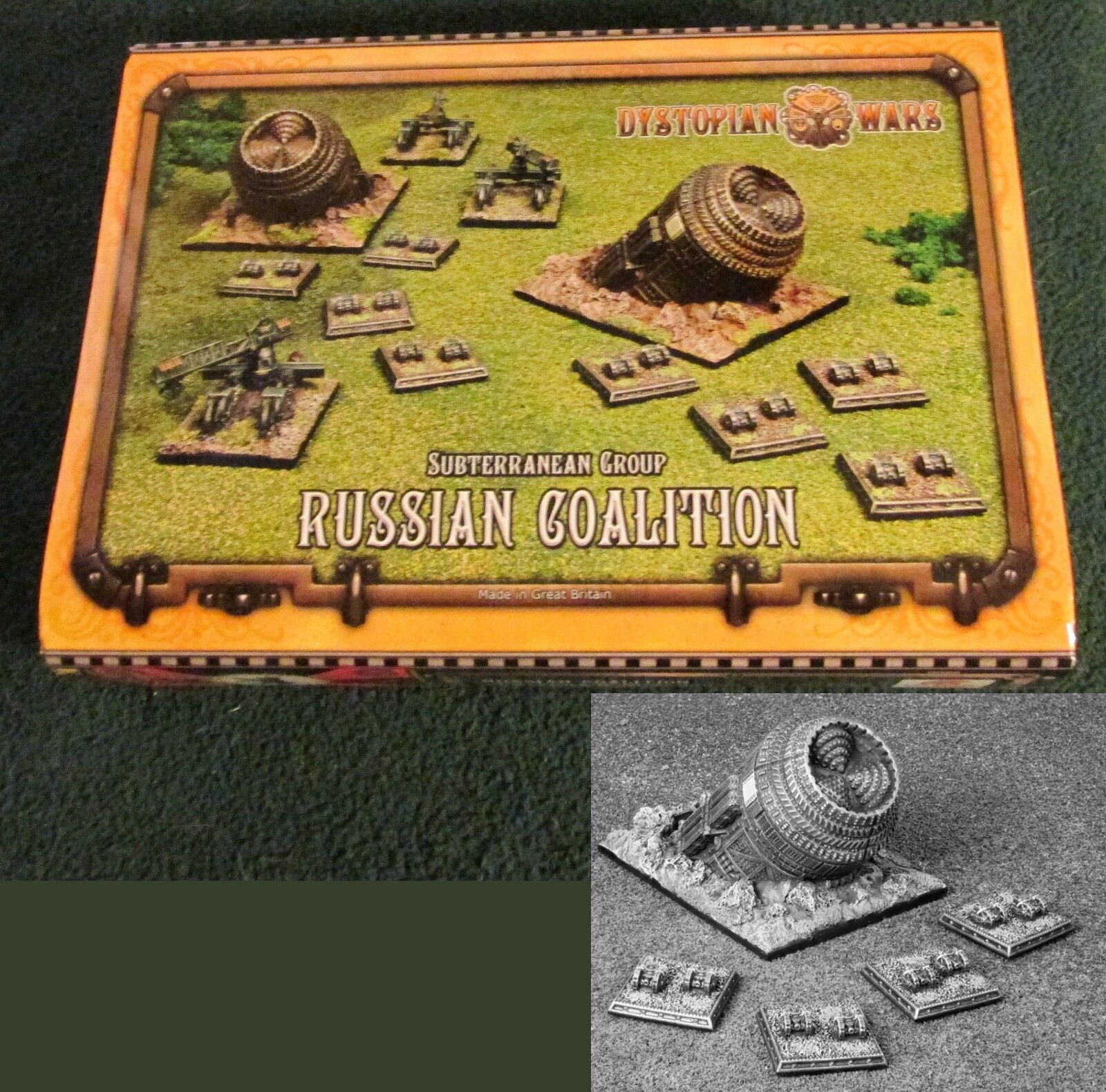 Dystopian Wars DWRC44  Russian Coalition Subterranean Group Armor Unit Box Set