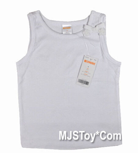 NWT GYMBOREE Girl Sleeveless T-Shirt White Tank Top