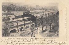 AK BERLIN CHARLOTTENBURG BHF. ZOOLOGISCHER GARTEN STRASSENBAHN GEL.1899 (AK1499)