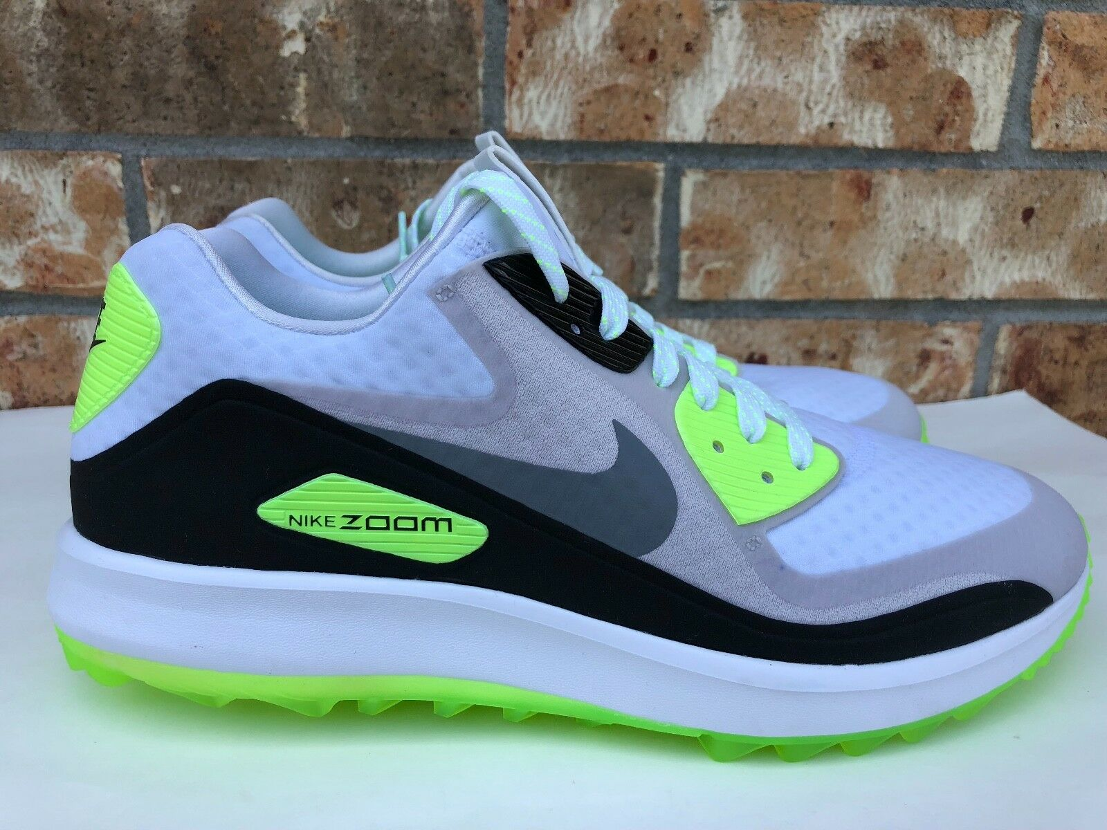 Men's Nike Air Zoom 90 IT Golf Shoes White Grey Green Black Rory 844569-102