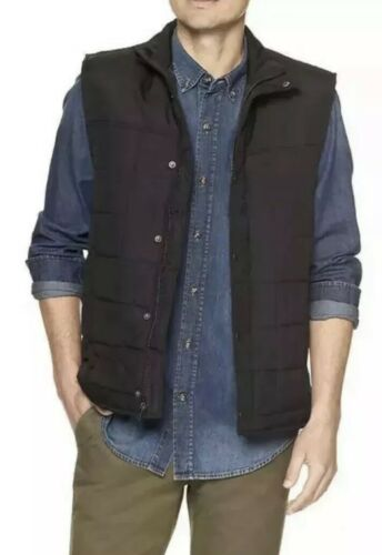 Gap Men`s Puffer Vest Quilted Outerwear Lightweight Black XL 2XL NWT