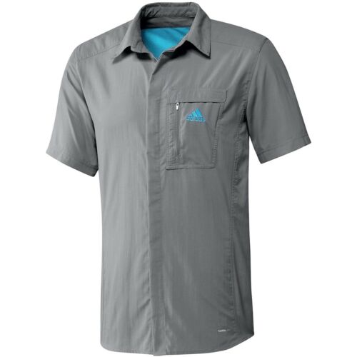 Adidas HT WICK shirt Homme Randonnée Chemise Outdoor Trekking CARGO chemise manches courtes gris