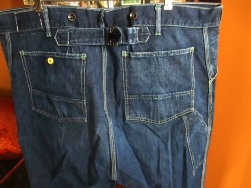 44x30 True Vtg 30s OSH KOSH BUCKLEBACK DONUT BUTTO