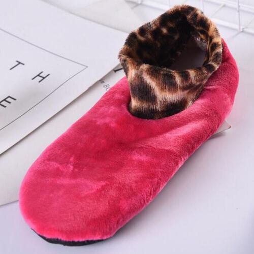 Womens Winter Warm Thicken Bed Sock Non Slip Elastic Floor Socks Slipper