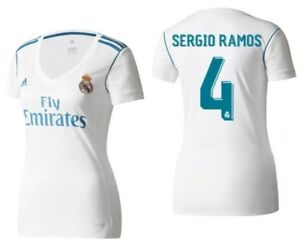 49bd5595864 ADIDAS SERGIO RAMOS REAL MADRID WOMEN S HOME JERSEY 2017 18.