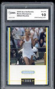 2005-Maria-Sharapova-Ace-Authentic-Tennis-Rookie-Gem-Mint-10-MS24