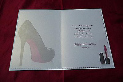 Personalizados Hecho A Mano Tarjeta De Cumpleaños-Zapatos 18, 21, 30, 40, 50 1574pr