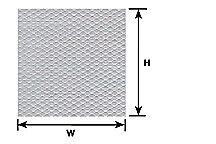 Plastruct 1/100 Placa de la banda de rodadura # PS-148