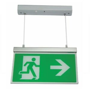 NEW Channel Safety Systems Razor LED Emergency Exit Sign 3 Hour - E/RZ/M3/LED