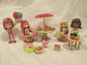 Strawberry-Shortcake-amp-Friends-2008-TCFC-Hasbro-Scented-4-Dolls-Accessories