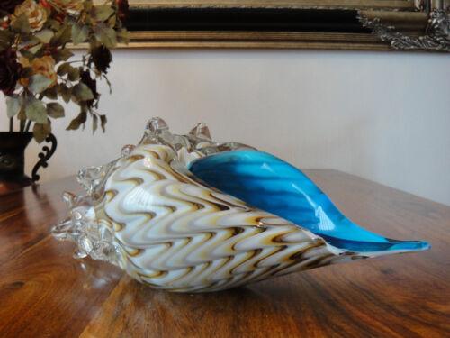 Skulptur Glasmuschel Kristall Muschel Glas Kunst Luxus Stil Murano Strandmuschel