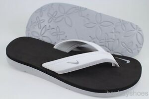 Nike Celso Girl Thong White Gray Black Flip Flop Beach