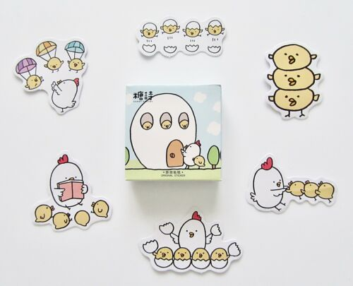 Chick chick chick chick chickens cute kawaii kitsch stickers box