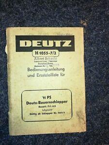 Deutz-H-1055-7-2-Bedienungsanleitung-amp-Ersatzteilliste
