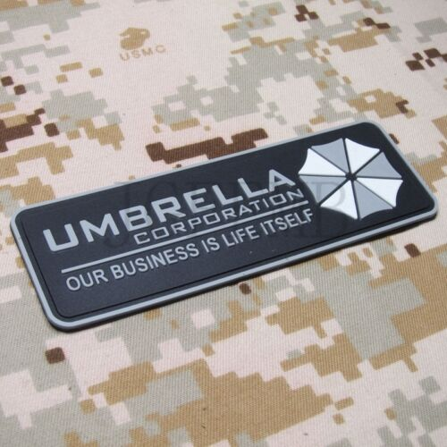 Resident Evil Umbrella OUR BUSINESS IS LIFE Chest tape 3D PVC Patch