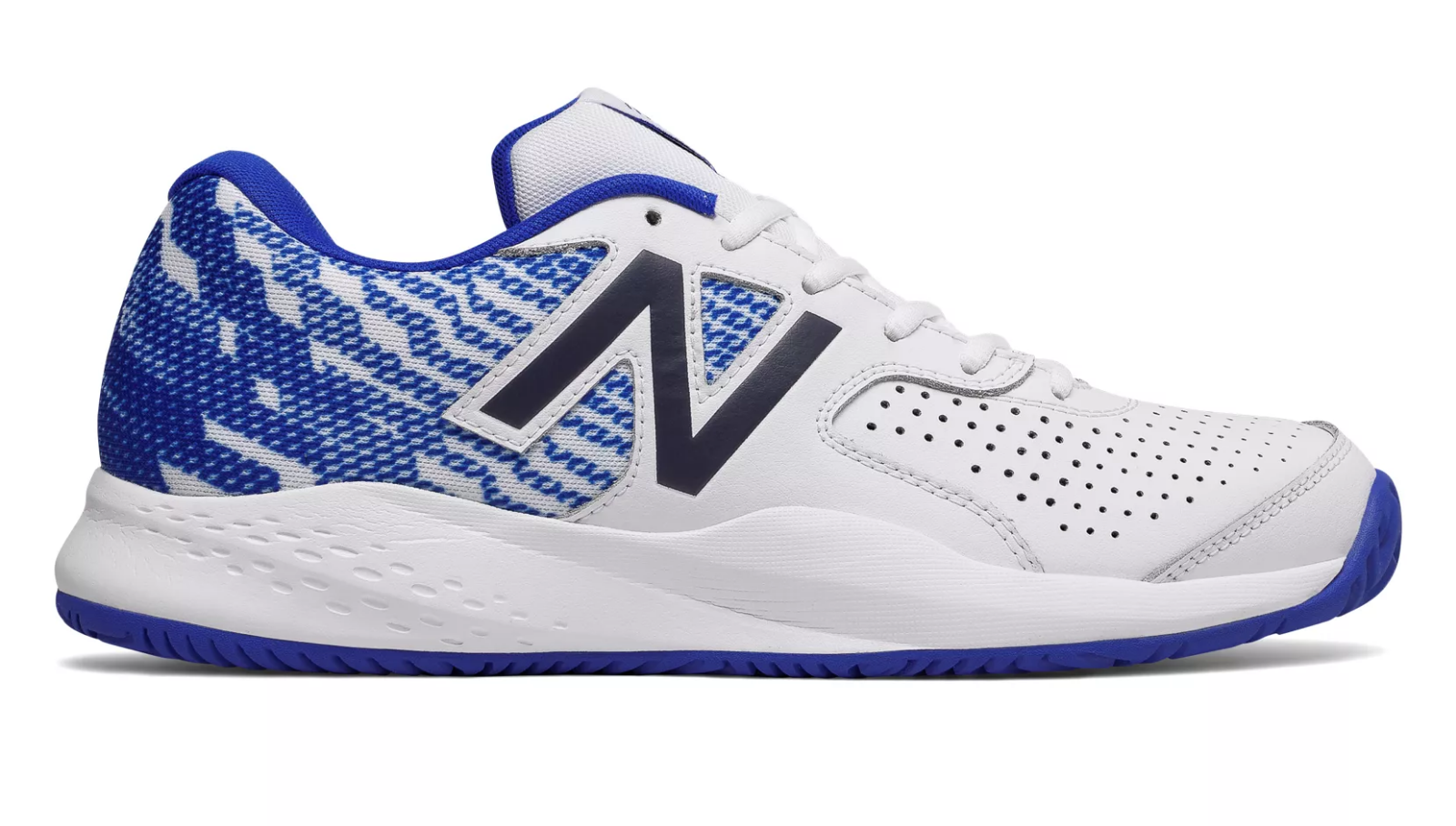 New Balance MCH696R3 Men's 696v3 White bluee Hard Court Performance Tennis shoes