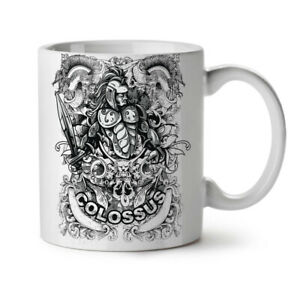 Colossus Warrior NEW White Tea Coffee Mug 11 oz   Wellcoda