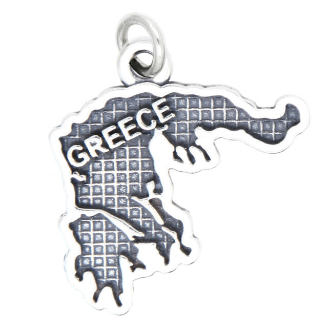 With Options LGU® Sterling Silver Oxidized Travel Map of Ghana Charm