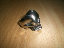 schwerer Skull Totenkopf Edelstahl Ring Biker XXL 22mm Gr.69