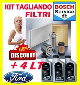 KIT-4-FILTRI-BOSCH-FORD-FIESTA-VI-1-6-TDCI-66KW-4LT-OLIO-FORD-FORMULA-5W30