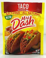 Mrs Dash Salt Free All Natural Taco Seasoning 1.25 Oz (3 Pack)