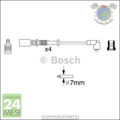#56754 KIT CAVI CANDELE Bosch FIAT PANDA Benzina 1980/>2004P