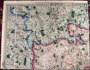 Antique-map-Ordnance-Survey-of-the-County-thirty-miles-round-London