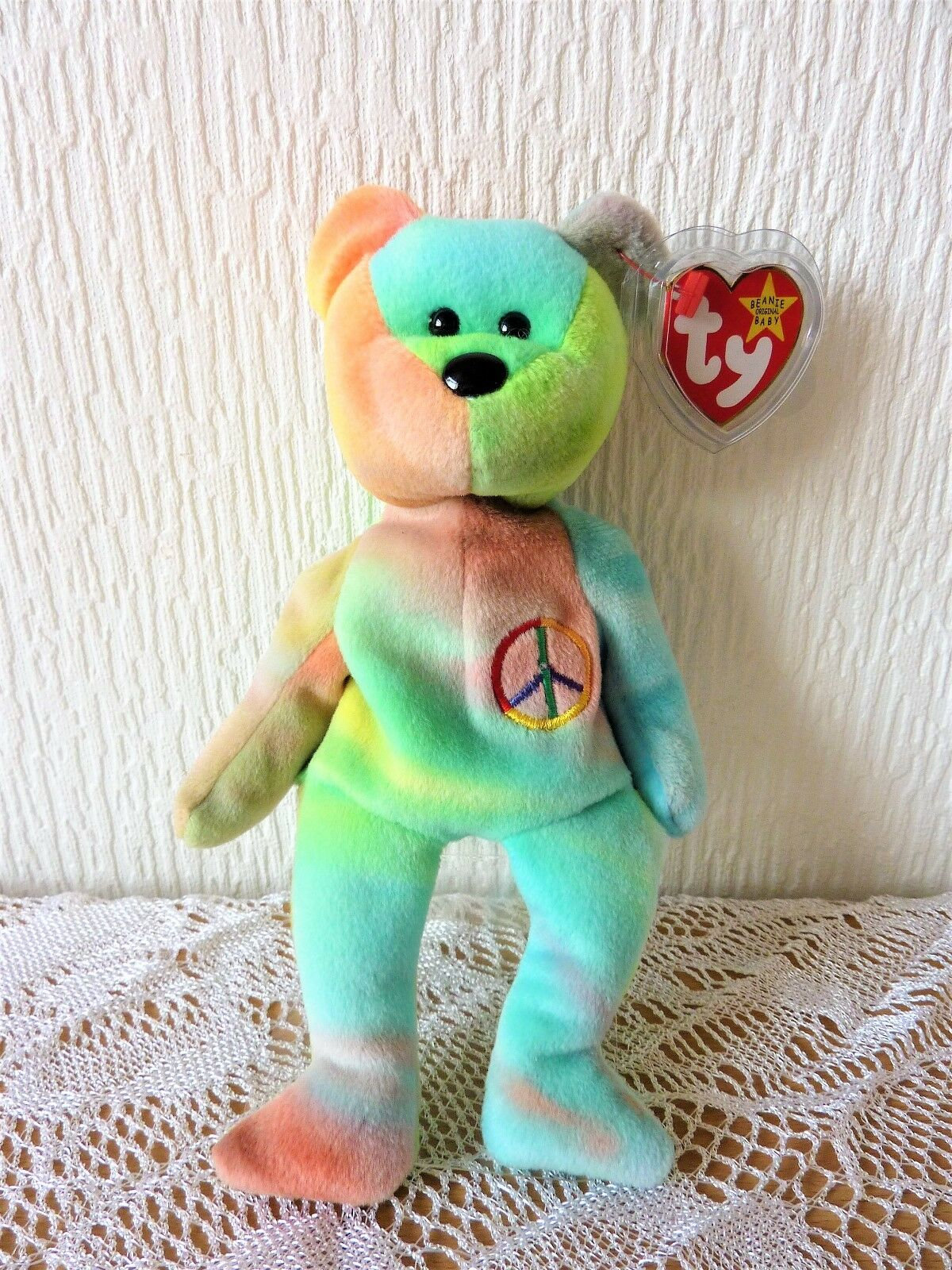 Ty Indonesia   Indonesian Peace Beanie baby Bear