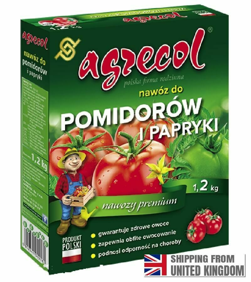 FERTILIZER FOR TOMATOES AND PEPPERS, Agrecol, 1.2 kg