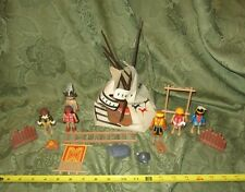 Vintage Playmobil Native American Camp Indian Teepee Figures Western Random Lot