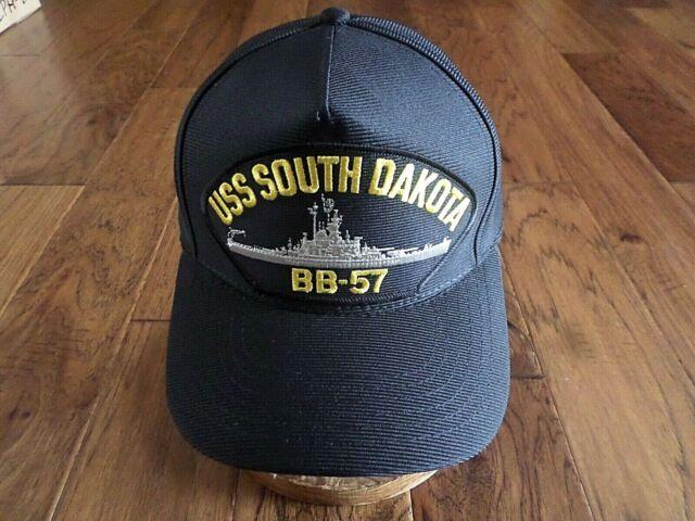 USS SOUTH DAKOTA BB-57 U S NAVY SHIP HAT OFFICIAL U S MILITARY BALL CAP USA  MADE