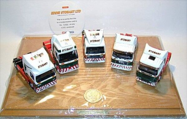 30th Anniversary Set Eddie Stobart Table d'unité logique. (5 models), 1 50, Corgi