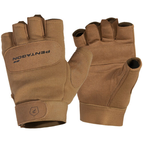 Pentagon 1//2 Duty Mechanic Gloves Leather Breathable Tactical Military Coyote