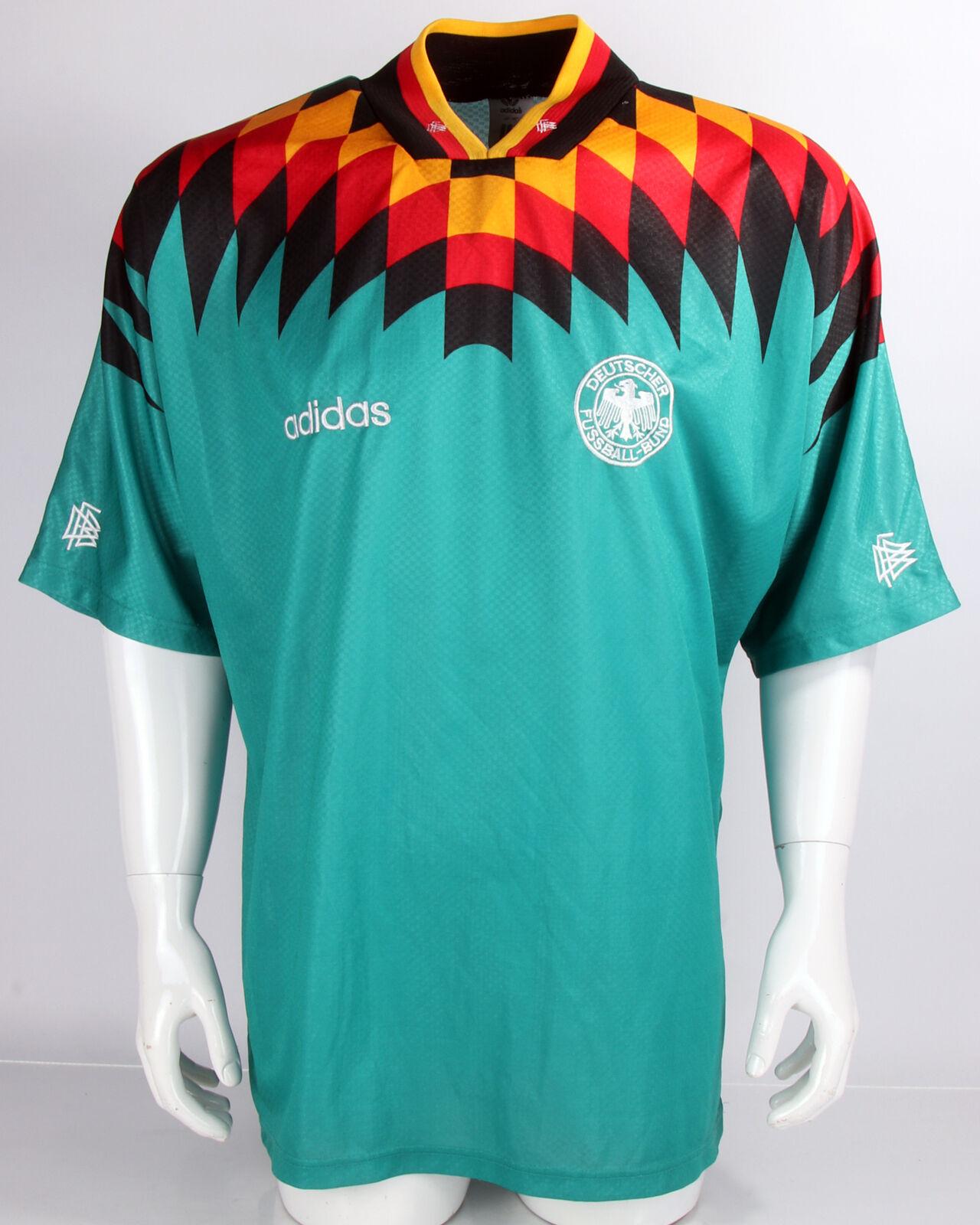 DFB Deutschland Trikot Shirt EM 1992 grün Away Gr. 44 46 - XL  | Bekannt für seine hervorragende Qualität