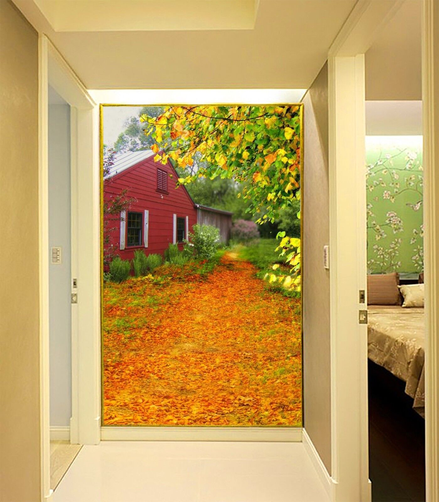 3D Herbst bluemen 7880 Tapete Wandgemälde Tapete Tapeten Bild Familie DE Lemon