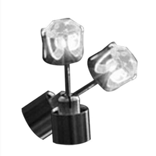 2x Lampe Lumière LED Clignotant Studs Boucles Oreilles Accessoire Fête Partie NF