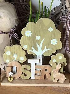 Schriftzug Ostern Dekoration Tischdeko 56500 Fruhling Holz Wohnen