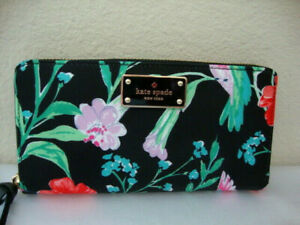 Kate-Spade-HUMMINGBIRD-FLORAL-WALLET-Wilson-Road-Neda-Wallet-NEW-w-TAGS