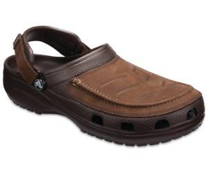 venta minorista 18f4e 4f912 Detalles de Crocs Hombre Yukon Vista Zuecos Cuero Cómodo Suave con Soporte  3 Colores