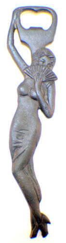"""Cast Iron Lady of the Evening Woman with Fan Bottle Opener 8/"""""""