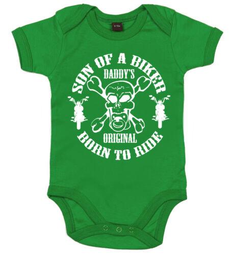 """Baby Motociclista Body Bebè /"""" Son Of a /"""" Moto Figli Anarchia Divertente Bambino"""